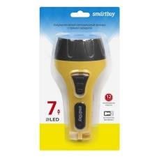 Аккумуляторный светодиодный фонарь 7 LED с прямой зарядкой Smartbuy, желтый (SBF-86-Y)