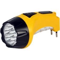 Аккумуляторный светодиодный фонарь 7+8 LED с прямой зарядкой Smartbuy, желтый (SBF-88-Y)
