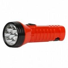 Аккумуляторный светодиодный фонарь 7 LED с прямой зарядкой Smartbuy, красный (SBF-95-R)