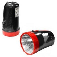 Аккумуляторный фонарь-прожектор 2 в 1 3W+6 SMD, черный (SBF-400-K) 1/45