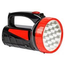 Аккумуляторный фонарь-прожектор 12+9 SMD, черный (SBF-401-1-K)