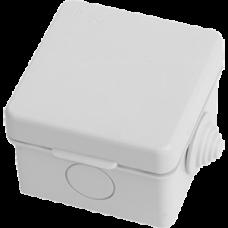 Распаячная коробка ОП 65х65х50мм, крышка,  IP54, 4вх. TDM