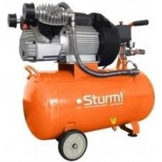 AC9323 Воздушный компрессор Sturm, 2400 Вт, 50л, 410л/мин, 8бар, 2850 об/мин, предохр. клапан