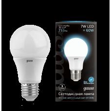Лампа LED  7Вт А60 Е27 белый свет Gauss