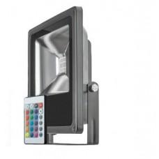 Прожектор светодиодный ДО-20w RGB с пультом управления IP65 OFL-20-RGB-BL-IP65-LED)