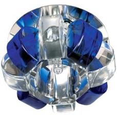 """DK31 CH/WH/BL Светильник ЭРА декор """"корона"""" G9,40W,220V, JCD хром/прозрачный/синий"""