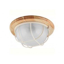 Светильник НБО 03-60-012 круг с решеткой IP54 220В/60Вт Е27 дерево/клен